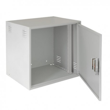 Настенный антивандальный шкаф NETLAN, 12U, Ш600хВ600хГ450мм, серый