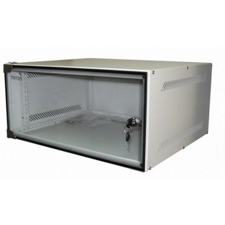 Шкаф настенный 4U серия WS (530х450х279), серый Netko