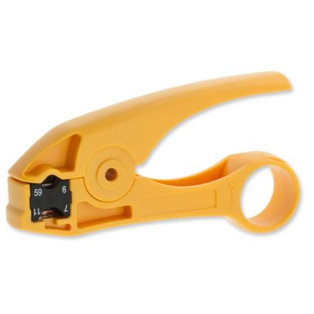 HT-351 Профессиональный инструмент для разделки коаксиального кабеля RG59, RG6, RG11