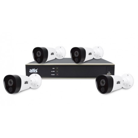 ATIS PIR kit 4ext 2MP Комплект на 4 камеры для дачи