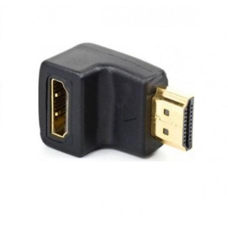Переходник гнездо HDMI - штекер HDMI угловой REXANT
