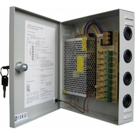 Блок питания Full Energy BG-1210/9 12В 9А 9 каналов по 1А с плавким предохранителем