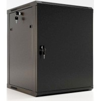 """Шкаф настенный 19"""" 15U Hyperline TWFS-1545-SR-RAL9004 черный"""