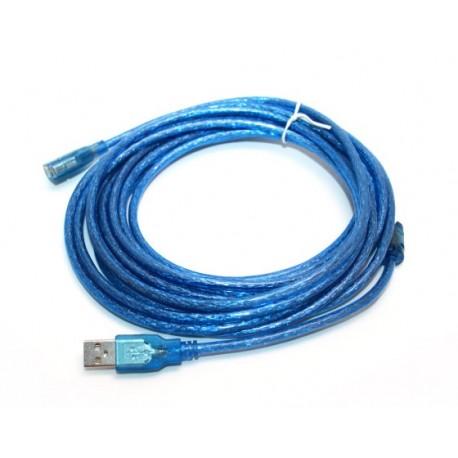 USB удлинитель USB(male) - USB(female) длинна 3 м. цвет синий