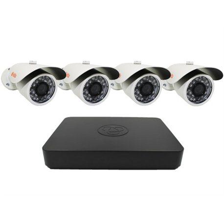 Комплект 4 уличных камеры AHD IR4
