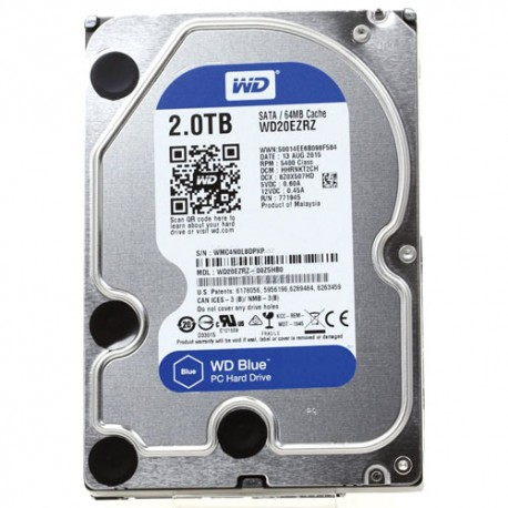 Жесткий диск HDD 2ТБ, Western Digital Blue