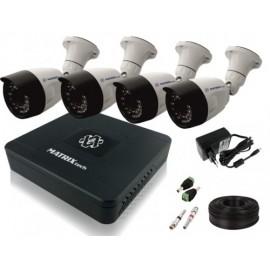 Комплект 4 уличных камеры FullHD